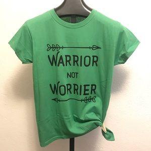 Warrior not worrier graphic T-shirt MEDIUM
